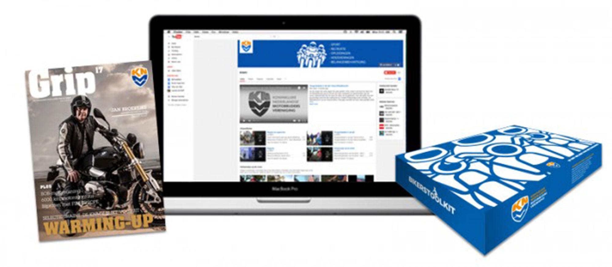 Magazine en website Grip in opdracht van motorrijdersvereniging KNMV
