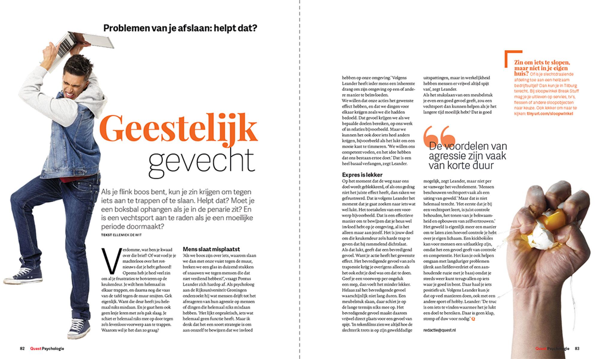 Tijdschrift Quest Psychologie in opdracht van mediabedrijf Hearst Netherlands