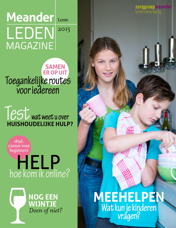 Ledenmagazine Meander in opdracht van zorgorganisatie Espria