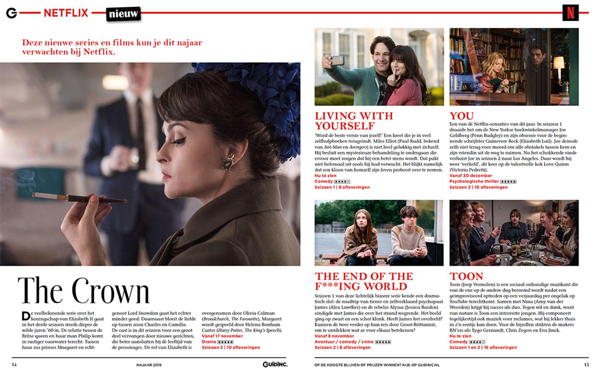 VOD-magazine Guidinc in opdracht van mediabedrijf Bindinc.