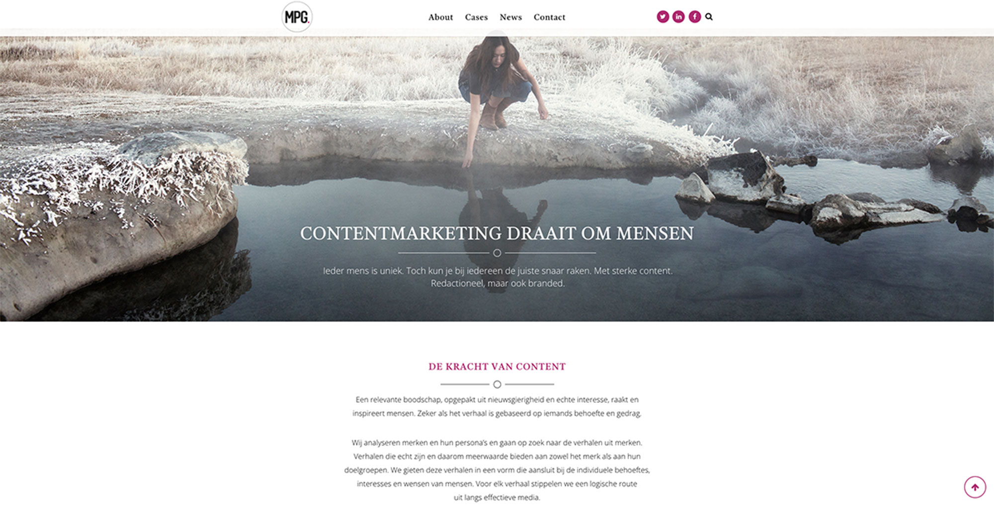 Website MPG.today in opdracht van content-marketingbureau MPG.today