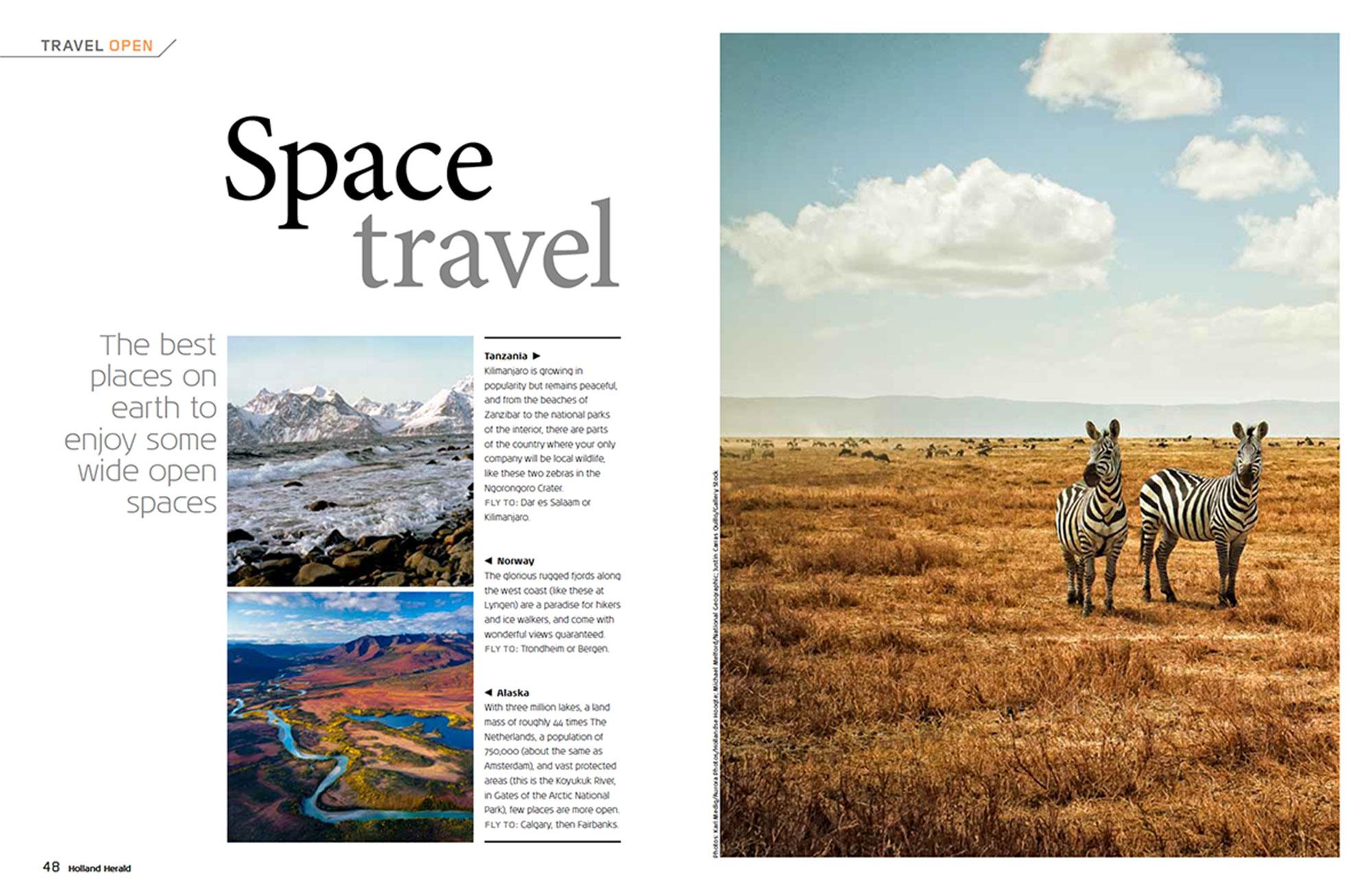 Magazine Holland Herald in opdracht van vliegmaatschappij KLM