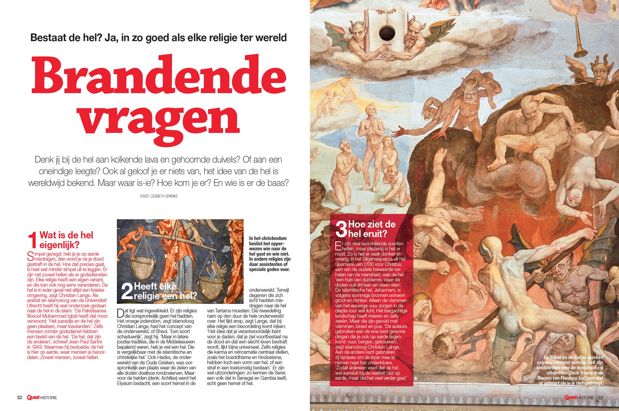 Tijdschrift Quest Historie in opdracht van mediabedrijf Hearst Netherlands