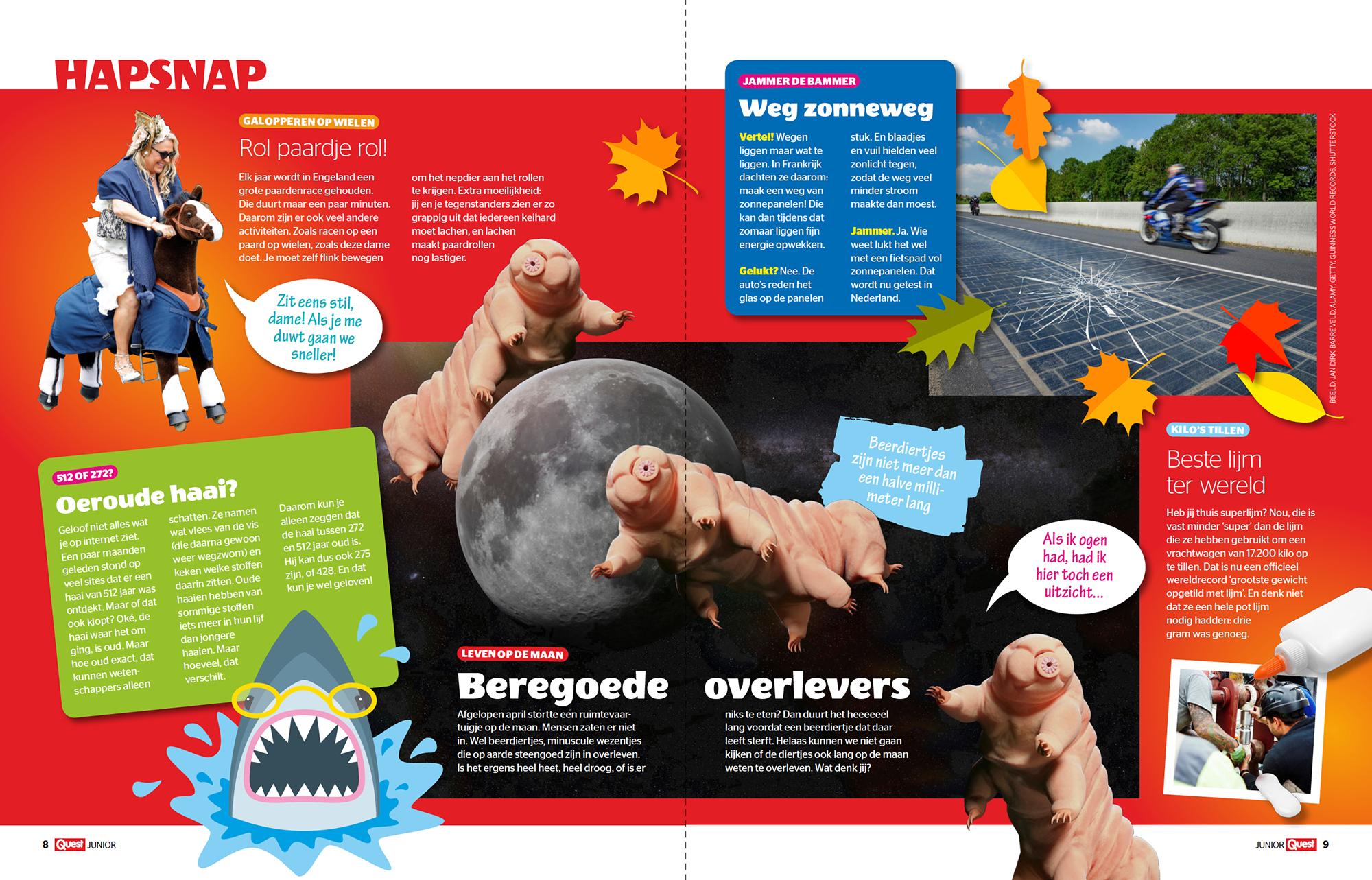Tijdschrift Quest Junior in opdracht van mediabedrijf Hearst Netherlands